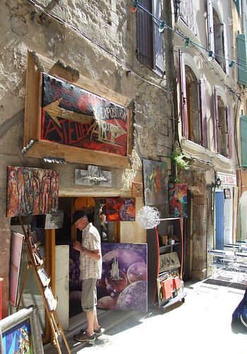 Picturesque streets, historical embossed squares in Anduze
