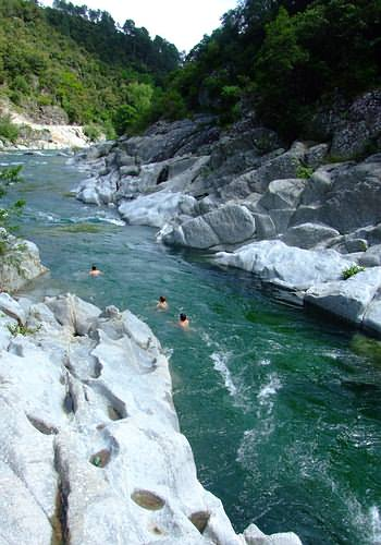 Swimming in the river Le Gardon